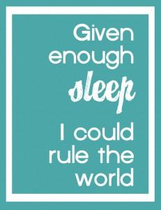Choosing Love is Choosing Sleep