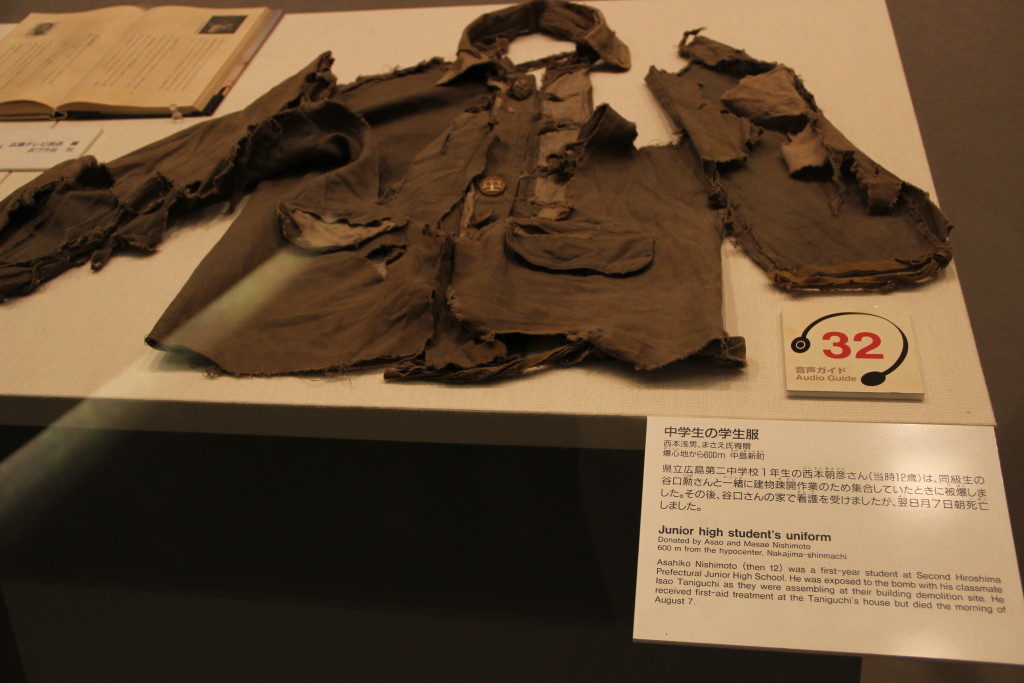 Clothes from bomb victim, 13 years old